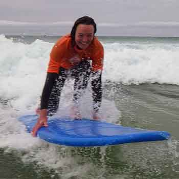 Surfing at Newquay, Cornwall