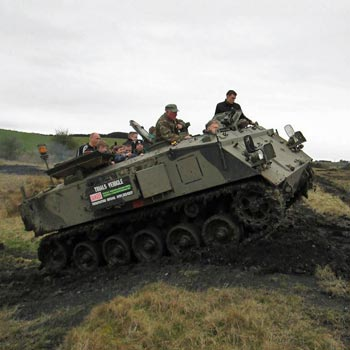 Tank Driving Northumbria Picture