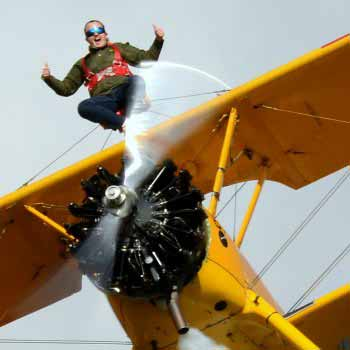 Wing Walking Yorkshire Picture