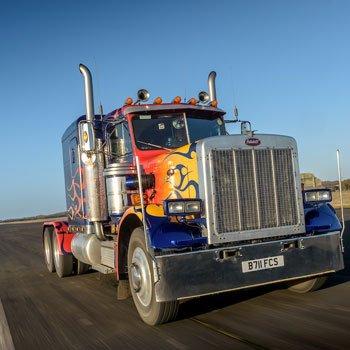 Optimus Prime Truck Driving