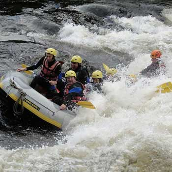 Superb White Water Rafting in Perthshire