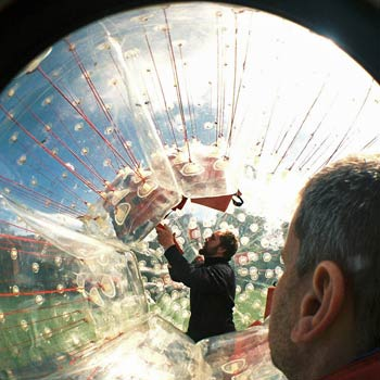 Zorbing in Edinburgh