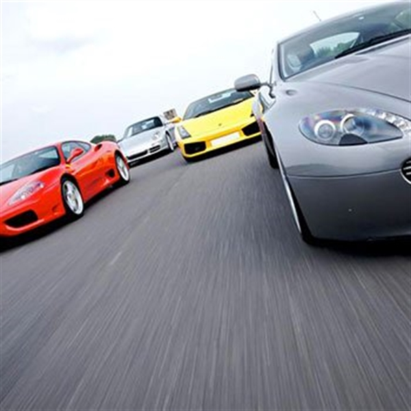 Supercars lined up